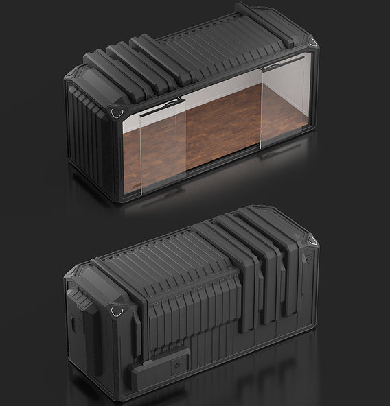 Sci Fi Concept of a Container | CGI