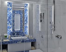 3D model Bathroom Interior 2