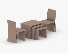 0031 - Modern Chair and Table Set 3D model
