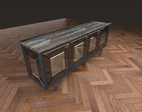 3D asset Cupboard wooden