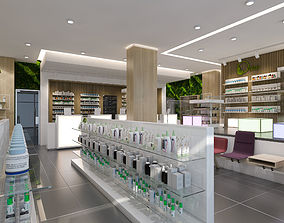 modern pharmacy 3D model
