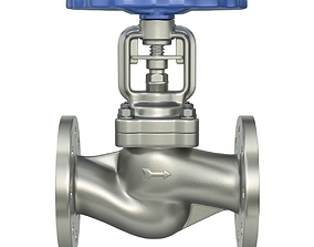 Industrial valve 3D model