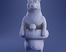Summer Bear 3D Print Model - White and Full Color