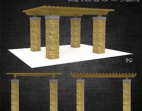 Trellis shade free standing structure landscape 3D asset