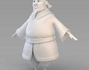 3D Cartoon Fat Vizier