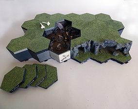3D print model Hexagonille Terrain - Caves