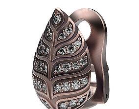 Earrings Leafs 3D printable model