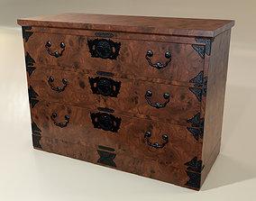 Japanese folk art chest of drawer 3D