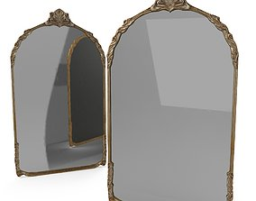 3D asset Antique Frame Mirror