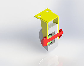 Fixed Caster Wheel 3D model