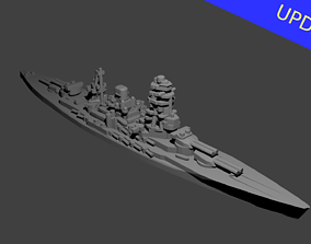 3D print model Japanese Nagato Class Battleship