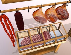 3D model Village Butcher Shop