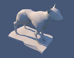 3D asset Dog Sculpture