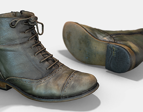 Photoscanned Female Ankle Boots 3D model realtime