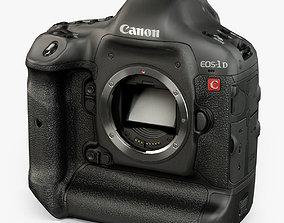3D asset Canon EOS-1D C 4K DSLR camera