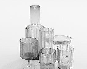 3D model Ferm Living Ripple Glassware