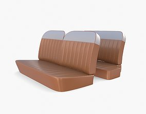 Generic 60s Car Seats 3D model