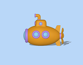 A cute Submarine to decorate and play 3D printable model