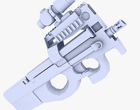 3D model FN P90 ACOG