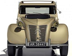 3D 1958 Citroen 2CV Sahara 4x4