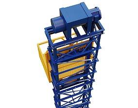 3D model freight elevator
