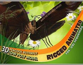 Peacock Butterfly 3D model