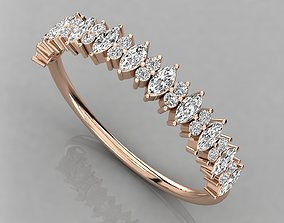 jewel platinum Women solitaire ring 3dm render detail
