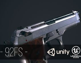 3D model Beretta 92FS Silver