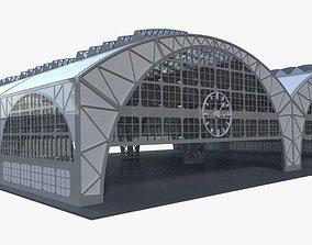 storage 3D model Industrial building