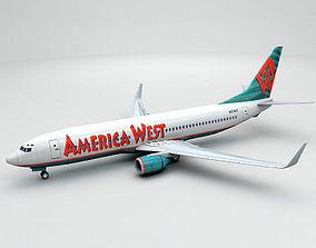 Boeing 737-800 NG Airliner - America West 3D model