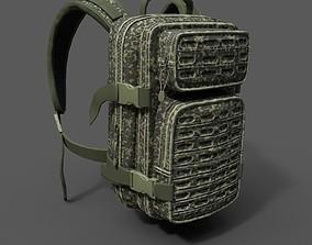 3D model Military bagpack scifi