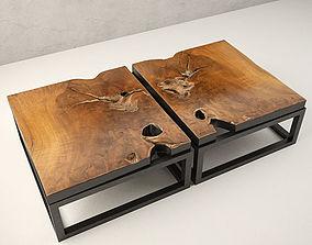 table 3D model Teak Coffee Table