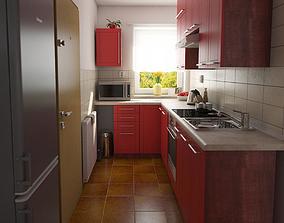 Kitchen Modern 3D model archviz