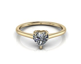Heart Engagment Jewelry Ring 3 3D printable model