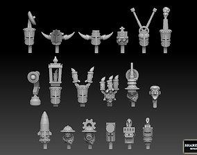 Steampunk Head Megapack 3D print model