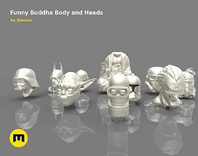 3D printable model Buddha Body and Heads Trooper Yoda 3