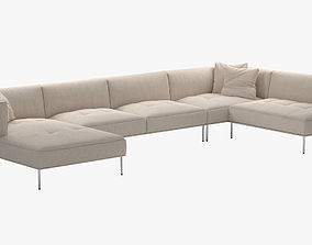 Living Divani ROD Sectional Sofa 3D model