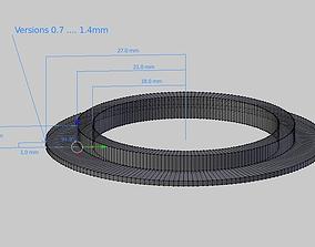 3D print model Seal for Kitchen Sink Strainer Plug