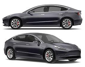2018 Tesla Model 3 Midnight Silver Metallic