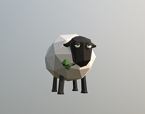 3D model animated Low-poly Sheep