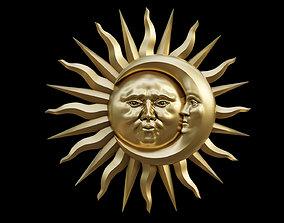 Sun and Moon art 3D print model