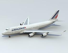 747-400 Air France 3D