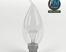 Candle angular light bulb 3D model
