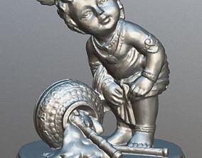Baby Krishna Spilling Milk 3D printable model