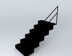 3D model Metallic ladder dock