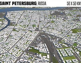 3D model Saint Petersburg Russia