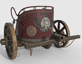 Lowpoly Chariot 3D asset
