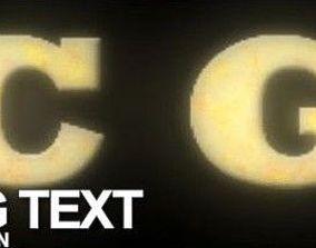 3D model Melting text tutorial end scene