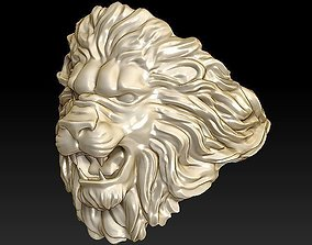 3D printable model obj lion ring light