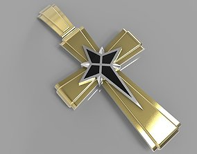 cross with enamel engagement 3D printable model